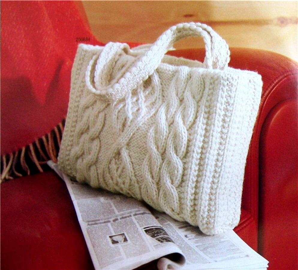 Вязанная сумки своими руками