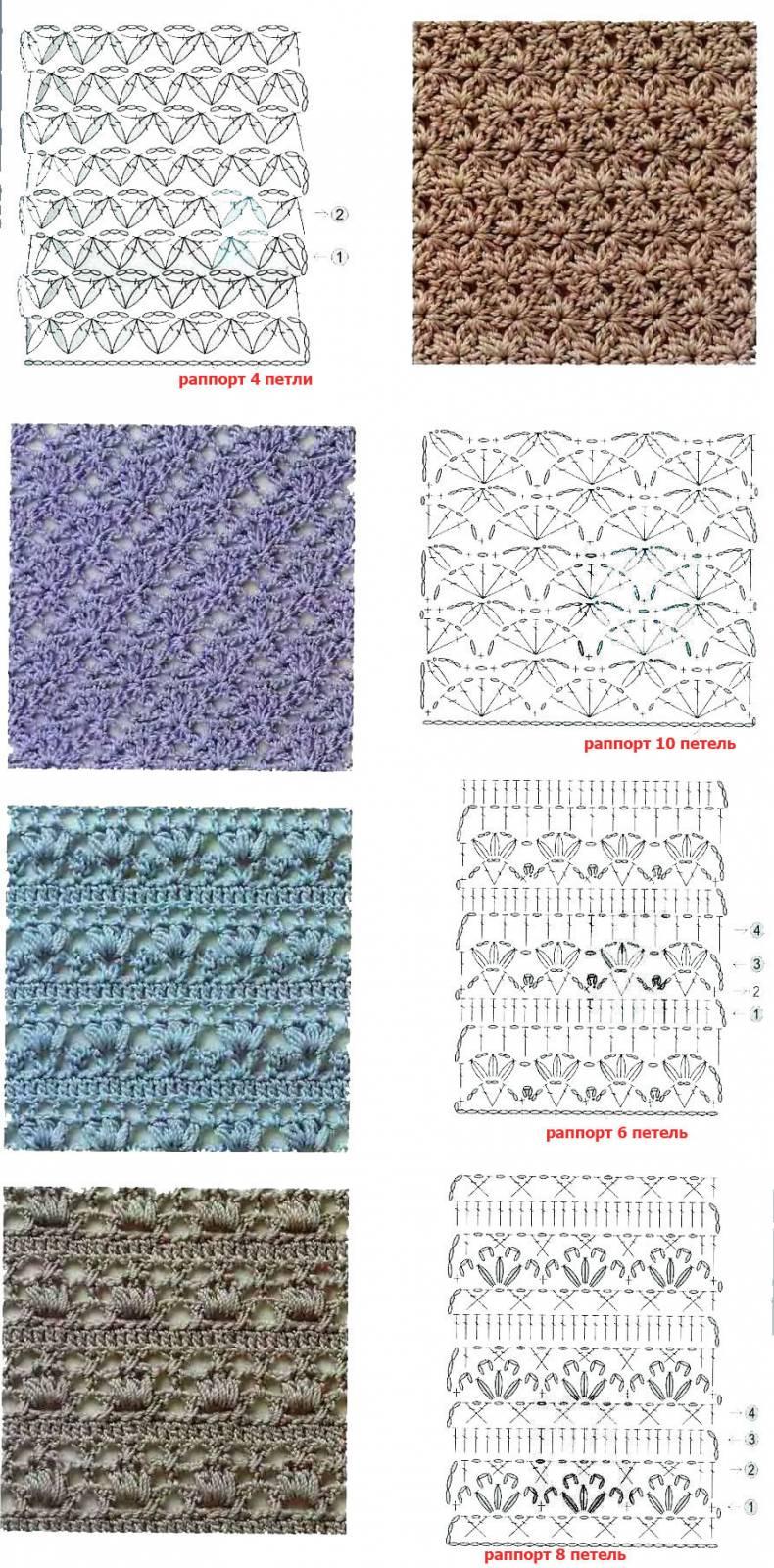 Схемы и фото по вязанию крючком