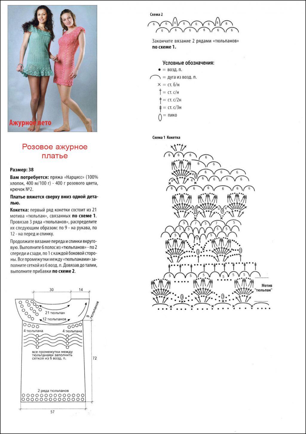 Схемы вязания крючком туник для подростков